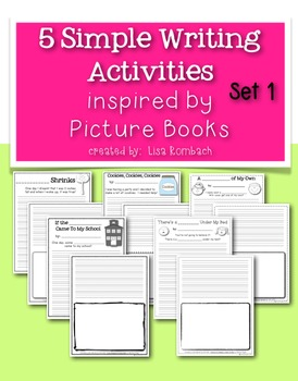 Simple Writing Activities Inspired by Picture Books BUNDLE
