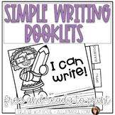 Simple Writing Booklets FREEBIE