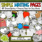 Simple Writing Pages for Shape Books, Class Books & MORE
