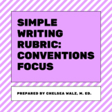 Simple Writing Rubric: Conventions Focus