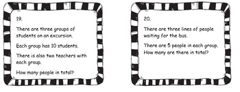 Simple Year 1 Multiplication Word Problems- No prep!