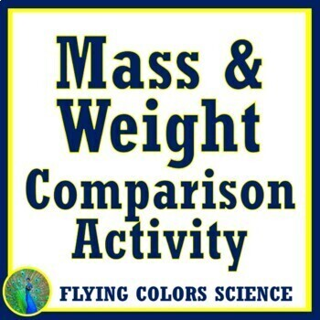 Compare Mass Weight Activity (middle school) NGSS MS-PS2-4 MS-PS2-5 MS-ESS1-2