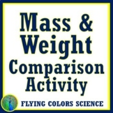 Mass & Weight Activity (Properties of Matter) NGSS MS-PS2-4 MS-PS2-5 MS-ESS1-2