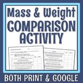 Mass Weight Activity Properties of Matter Activity