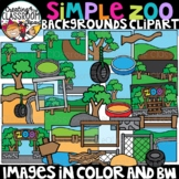 Simple Zoo Backgrounds Clipart {Zoo Clipart}