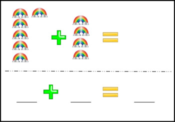 80+ - Simple addition - pictures sums - task cards #summer2018