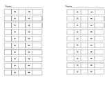 Montessori-Simple addtion recording-half sheet x 2