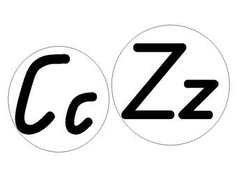 Simple alphabet display in Queensland Cursive