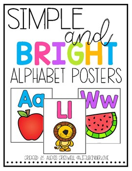 Simple and Bright Alphabet Posters
