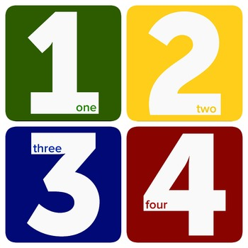 Simple and Colorful Number Cards