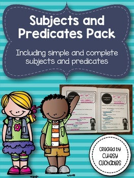 Simple and Complete Subjects and Predicates Unit- Notes, Practice, & Assessment