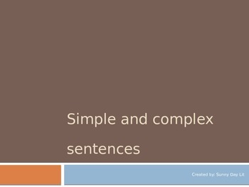 Simple and Complex Sentence Powerpoint