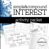 Simple and Compound INTEREST - activity pack