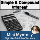 Simple and Compound Interest Activity! Financial Literacy Mini Mystery!