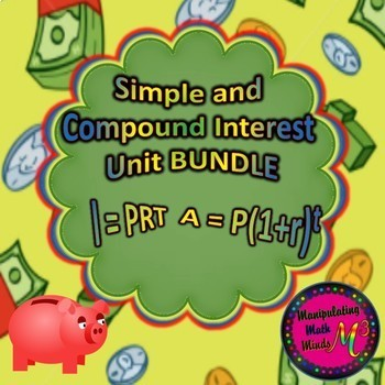 Simple and Compound Interest BUNDLE - Great financial literacy unit