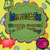 Simple and Compound Interest Foldables
