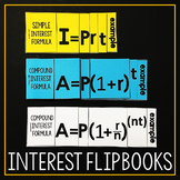 Simple and Compound Interest Formula INB Flippables