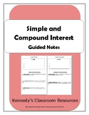 Simple and Compound Interest - Guided Notes
