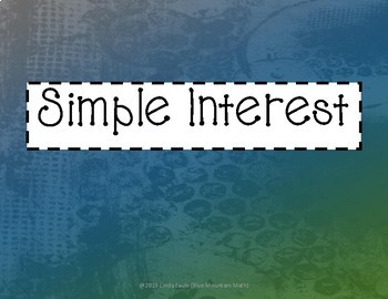 Simple and Compound Interest Paper Chain Activities