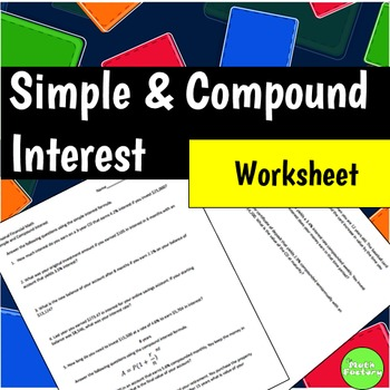 Simple And Compound Interest By The Math Factory Tpt