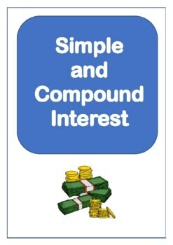 Maths - Simple and Compound Interest Questions (£) - Percentages