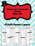 Simple and Compound Interest - STAAR REVIEW LESSON - TEKS 8.12D