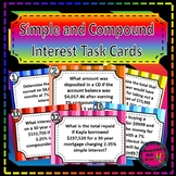 Simple and Compound Interest Task Card Set - Great unit or STAAR Review