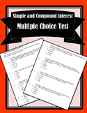Simple and Compound Interest Test
