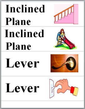 Simple Machines Illustrated Science Word Walls - Simple Ma