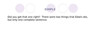 Simple and Compound Sentence Review and Practice