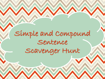 Simple and Compound Sentence Scavenger Hunt