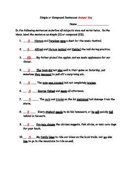 Simple and Compound Sentences