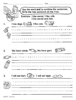 Simple and Compound Sentences (CCSS L.2.1f)