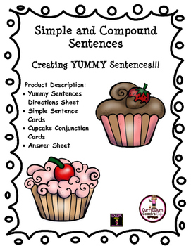 Simple and Compound Sentences Center Activity:  Great for