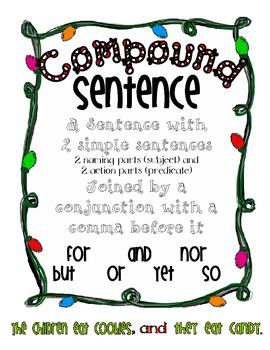 Simple and Compound Sentences - Christmas