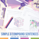 Color by Grammar Simple and Compound Sentences Grammar Activity