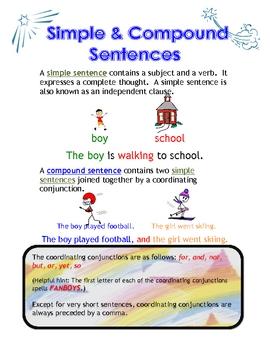 Simple and Compound Sentences Handout