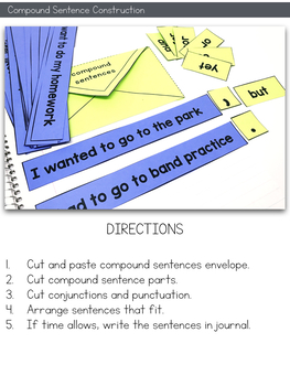 Simple and Compound Sentences Interactive Notebook