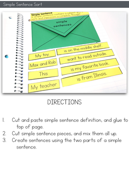 Simple and Compound Sentences Activities