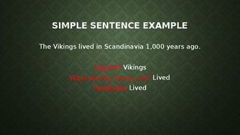 Simple and Compound Sentences PowerPoint
