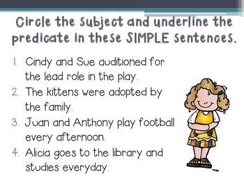 Simple and Compound Sentences PowerPoint Lesson