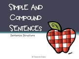 Simple and Compound Sentences PowerPoint Lesson