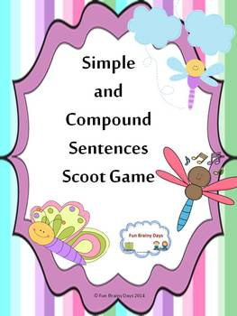 Simple and Compound Sentences Scoot Game