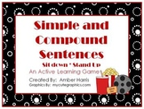 Simple and Compound Sentences Sit Down Stand Up Active Lea