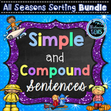 Simple and Compound Sentences Activities Bundle - All Seasons