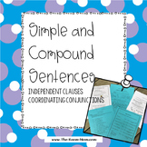 Independent Clauses, Simple, and Compound Sentences Grammar Resource