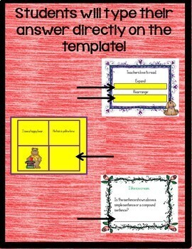 Simple and Compound Sentences Practice for Google Drive L.2.1.F