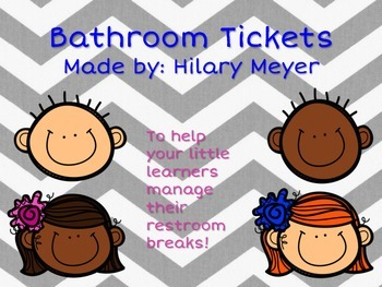 Printable Bathroom Tickets