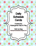 Simple and Cute Daily Schedule Cards