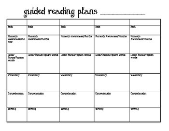 Simple and Effective Guided Reading Plans